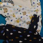 赤ちゃん服を少なくして管理を楽に!最低限の枚数にしています。